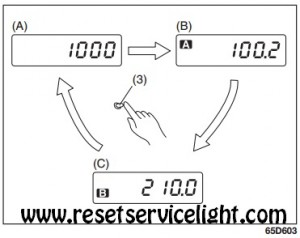 How to reset the trip meter to zero Fiat Sedici