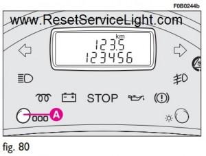 Reset odometer display Fiat Ulysse