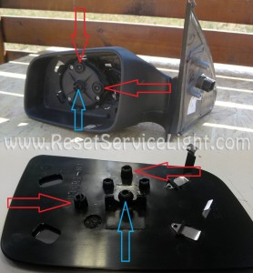 Remove glass mirror on a Chevrolet Astra 1998-2011