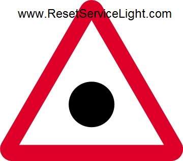 Red triangle with a black spot, new traffic sign