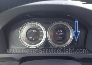 Reset service light Volvo S60 2