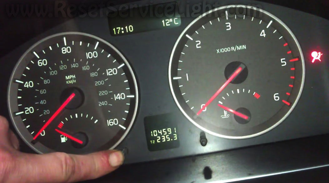 Airbag Light Flashing >> Reset time for regular service Volvo S40 – Reset service light, reset oil life, maintenance ...