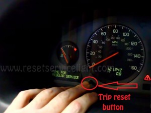 Reset time for regular service Volvo S60 2001-2009