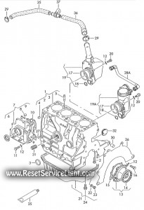 Original equipment cylinder block piston oil bath Audi A2