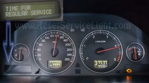 Turn off oil service light Volvo S80