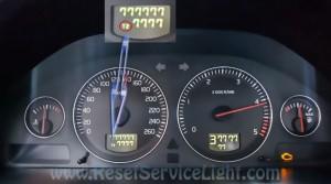 Turn off oil maintenance light Volvo S80