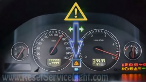 Reset service light indicator Volvo S80