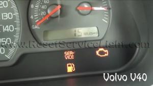 Turn off service light Volvo V40 first generation