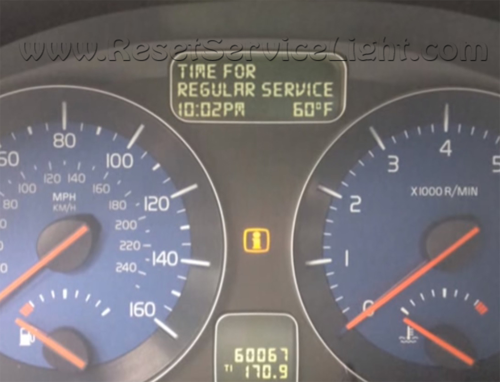 Reset service light indicator Volvo V50