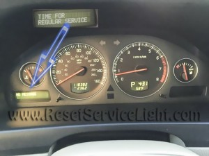 Turn off service indicator Volvo V70 II