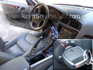 Reset maintenance warning light Volvo XC70 Mk2 2000-2007