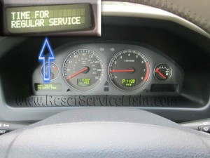 Turn off oil indicator Volvo XC70 Mk2 2000-2007