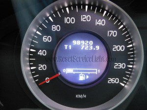 Turn off maintenance indicator Volvo XC60