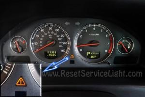 Turn off service indicator Volvo XC70 Mark 2 2000-2007