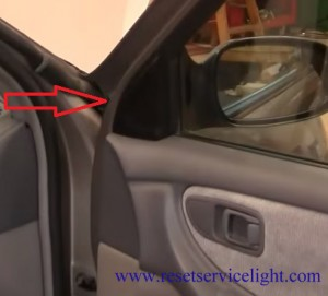 remove the plastic part on the door