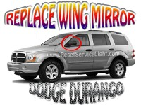Replace left side mirror on Dodge Durango