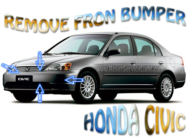 how to remove the front bumper on honda civic 2003 reset. Black Bedroom Furniture Sets. Home Design Ideas