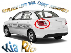 DIY replace Kia Rio 2010 left tail light assembly