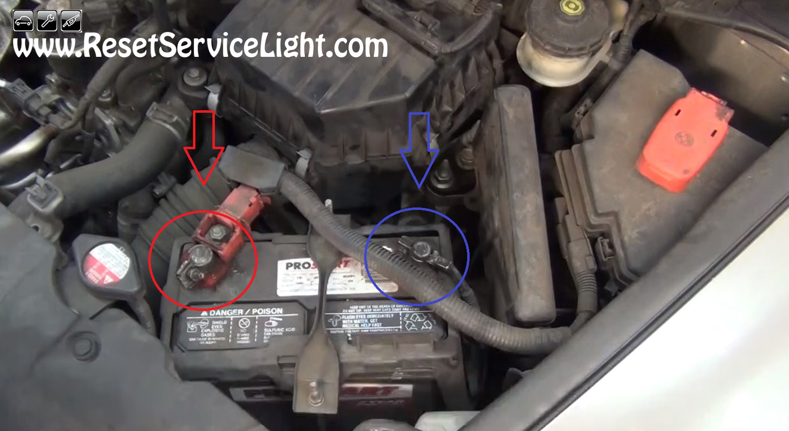 Disconnect The Cable Terminals Of The Battery On Honda
