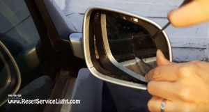 remove glass of the mirror VW Golf IV