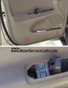 remove the door panel screws Toyota Camry 2005