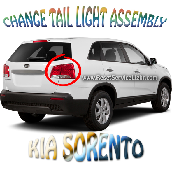 Replace the tail light assembly on a Kia Sorento 2012