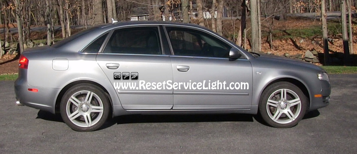 replace the battery on audi a4 b7 year 2004 2009 reset service light reset oil life. Black Bedroom Furniture Sets. Home Design Ideas