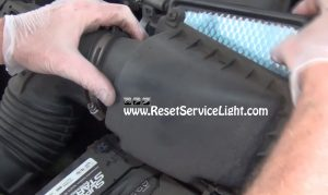 air box containing the air filter on Chevrolet Cavalier