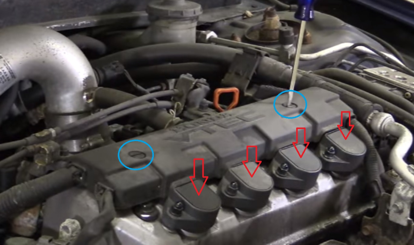 How to change the ignition coils on Honda Civic 1.7L 2001-2005 – Reset service light, reset oil ...