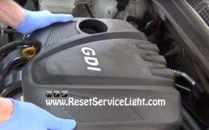 remove the engine cover of Hyundai Sonata