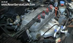 remove the ignition coils on Honda Civic 1998