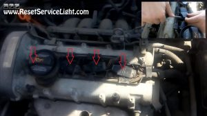 remove the ignition coils on Seat Cordoba 2004