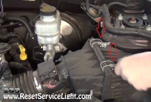 remove the air filter box on Ford Escape 2000-2006
