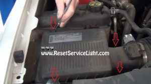 remove the bolts holding the air box on GMC Sierra 2007-2014