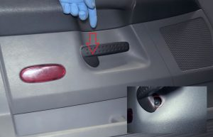 remove the front door handle on Dodge Ram 1500
