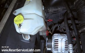 windshield washer reservoir on Dodge Ram 2006-2010