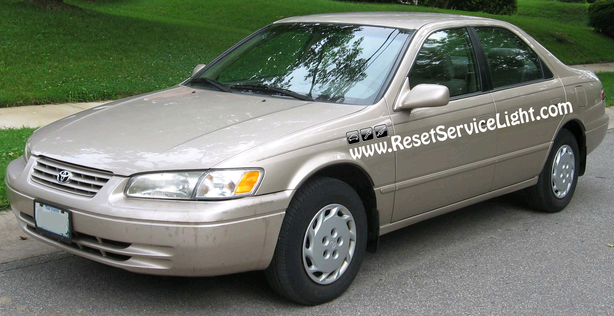 how to replace the hood on your toyota camry 1998 reset service light reset oil life. Black Bedroom Furniture Sets. Home Design Ideas