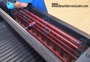 remove-the-cover-of-the-tailgate-mechanism-on-ford-ranger-2001