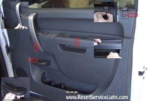 remove-the-plastic-covers-on-the-front-door-panel-of-chevrolet-silverado