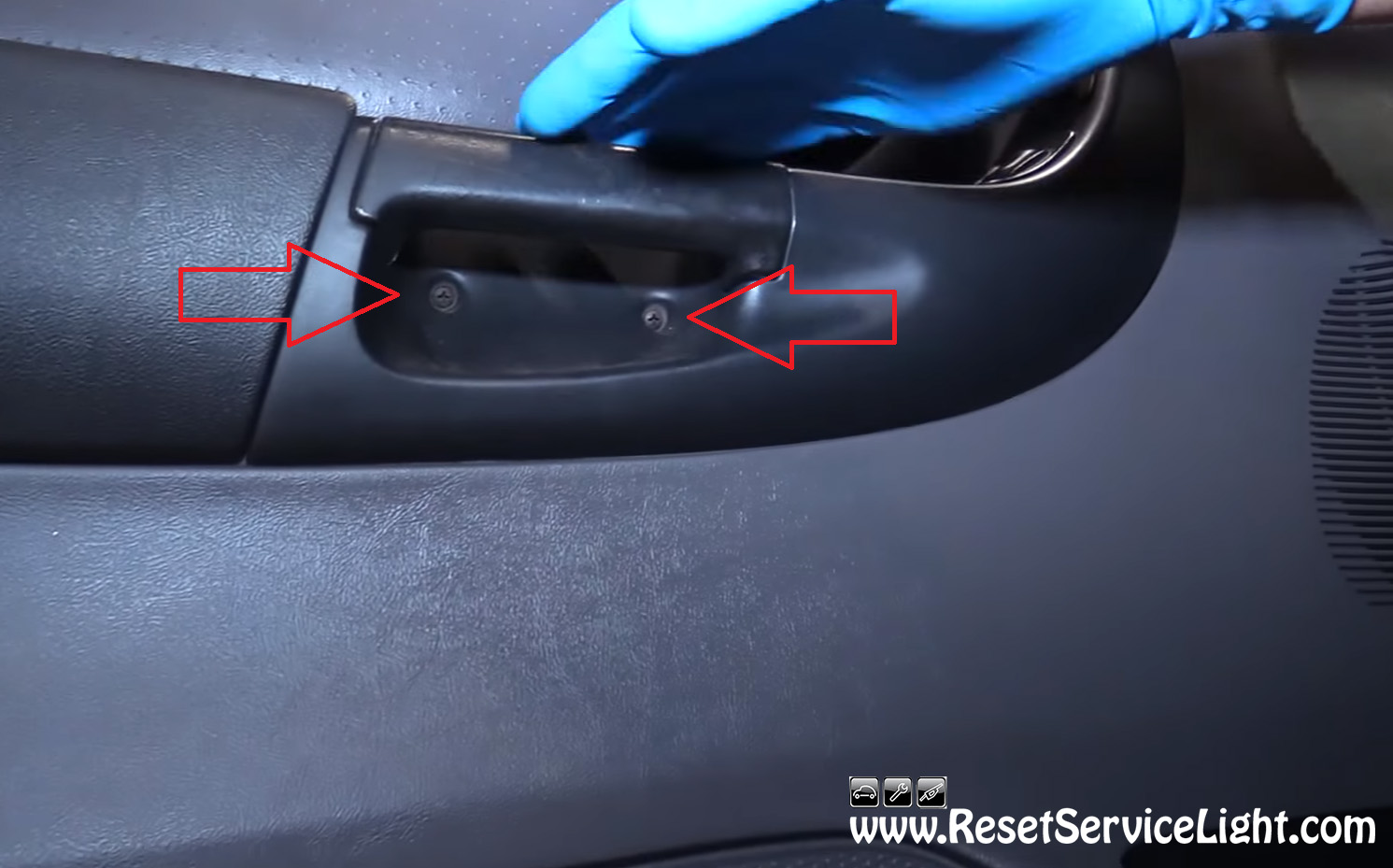 Remove The Bolts Under The Main Door Handle