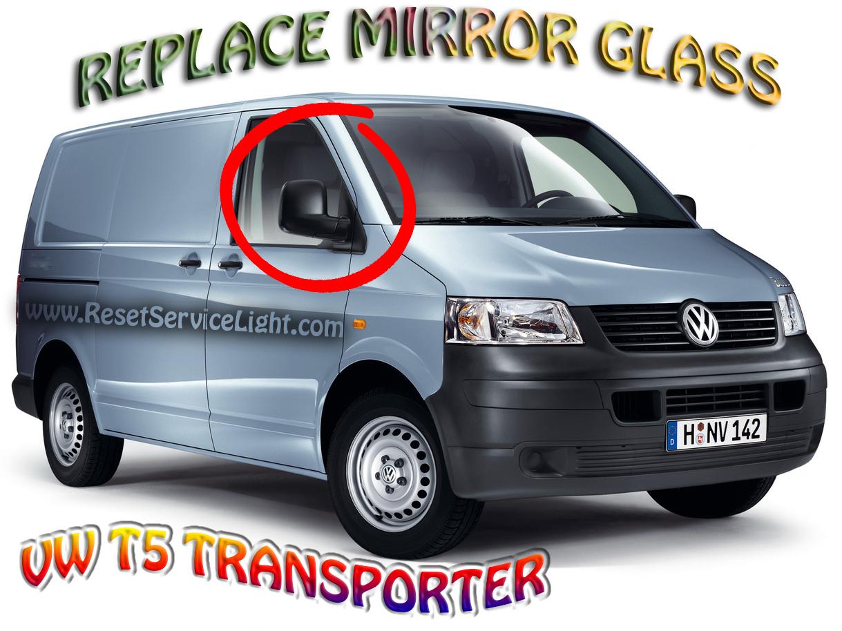 Wing Mirror Glass For VW Multivan T5 2003-2009 Left Passenger Side