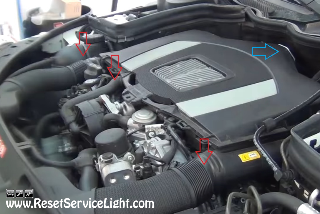 how to reset oil change light mercedes