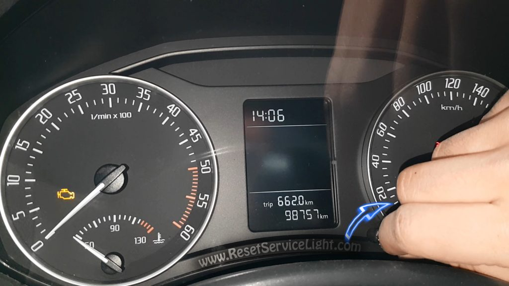 Reset Service Light Skoda Octavia Mk2 Facelift 2009 2013