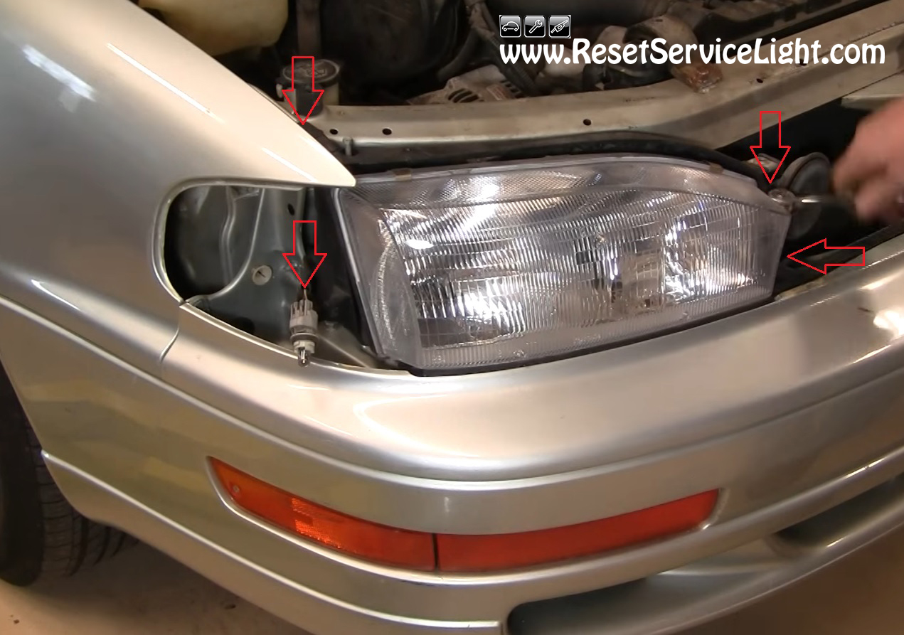 How To Change The Headlight Assembly On Toyota Camry 1992