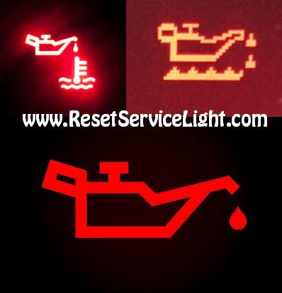 Reset oil light indicator