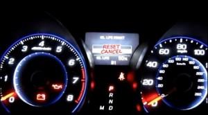 Reset oil maintenance Acura MDX