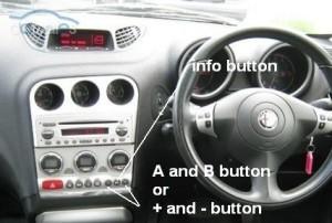 Reset service light indicator Alfa Romeo 156