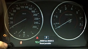 Reset oil service light indicator BMW F20