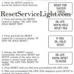 Reset oil service light Ford Freestar, 2004-2012
