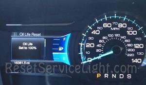 Ford Flex service oil life reset